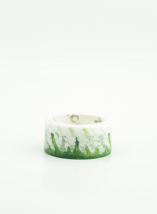 Washi tape l Groene waterverf