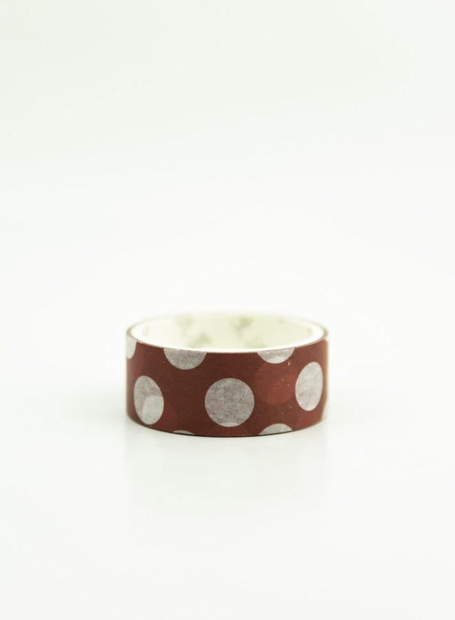 Washi tape l Donker rood grote stippen