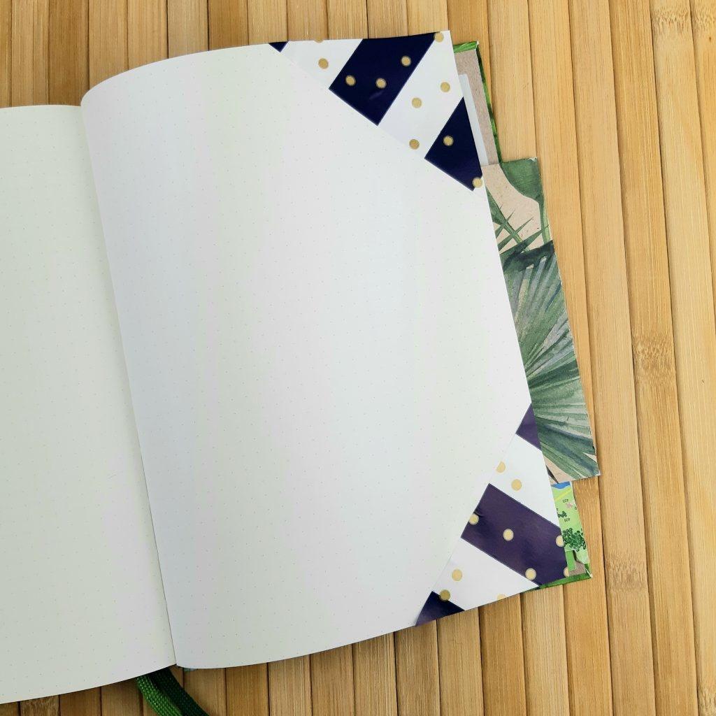 Inpakpapier gebruiken in een bullet journal