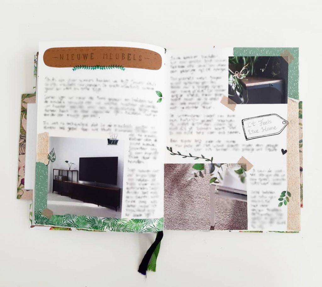 Bullet journal thema planten en bladeren