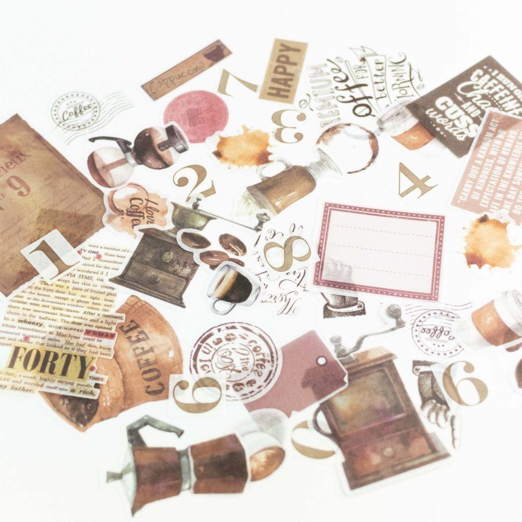 Bullet journal koffie stickers