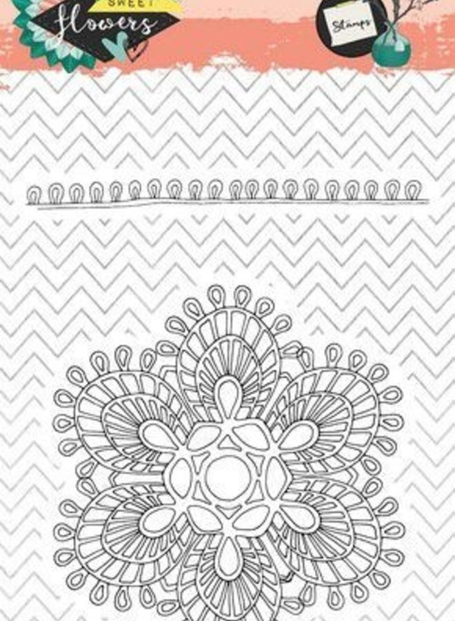 Studio Light - Clear stamp A6 Sweet Flowers 438