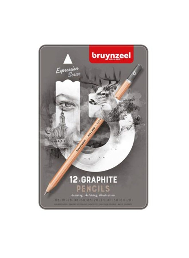 Bruynzeel Expression graphite pencils 12 stuks