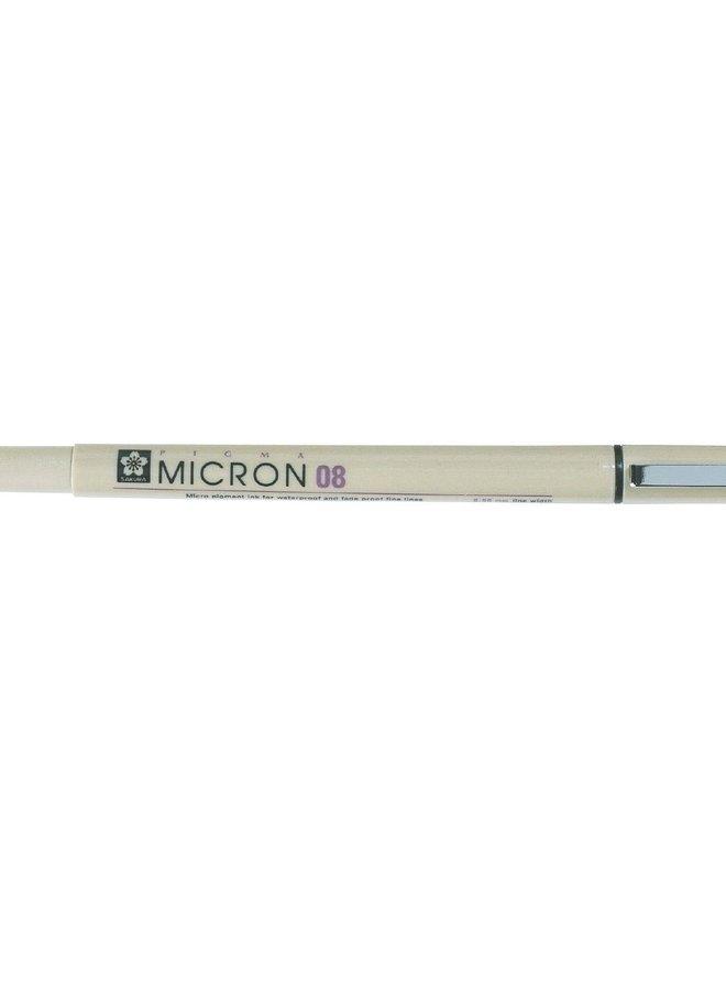 Sakura - Pigma Micron 08 Fineliner Zwart - 0,5mm