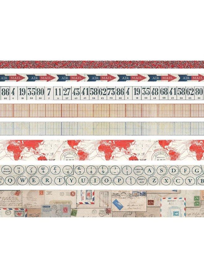 Tim Holtz design tape Postal - 8 rollen