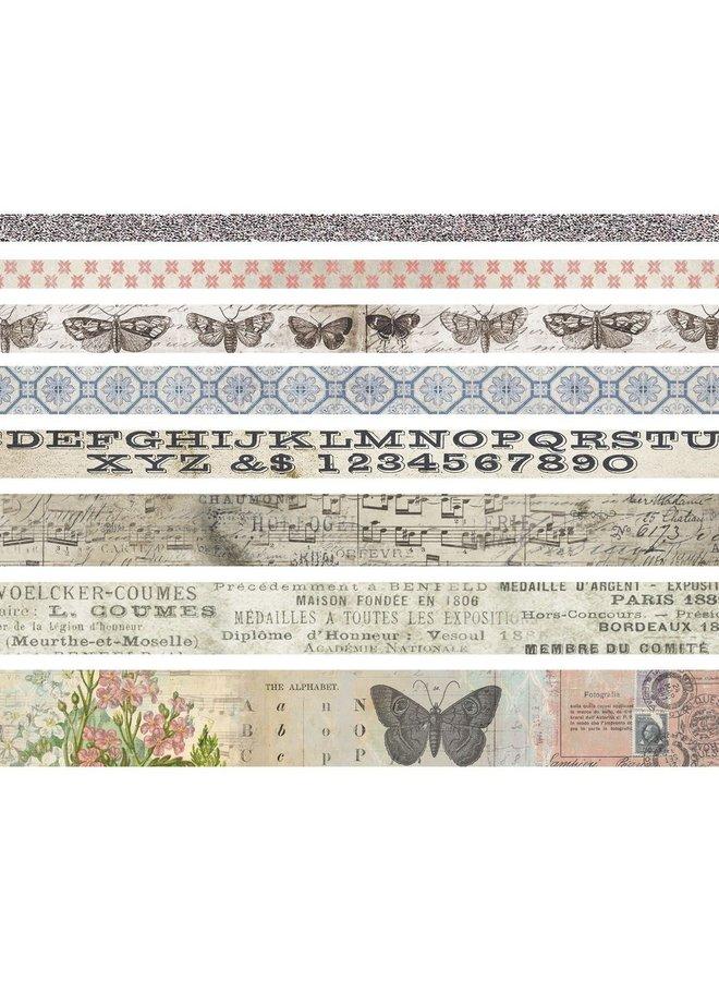 Tim Holtz design tape Butterfly - 8 rollen