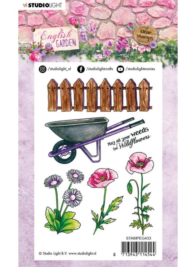 Studio Light - Clear stamp A6 English Garden 433
