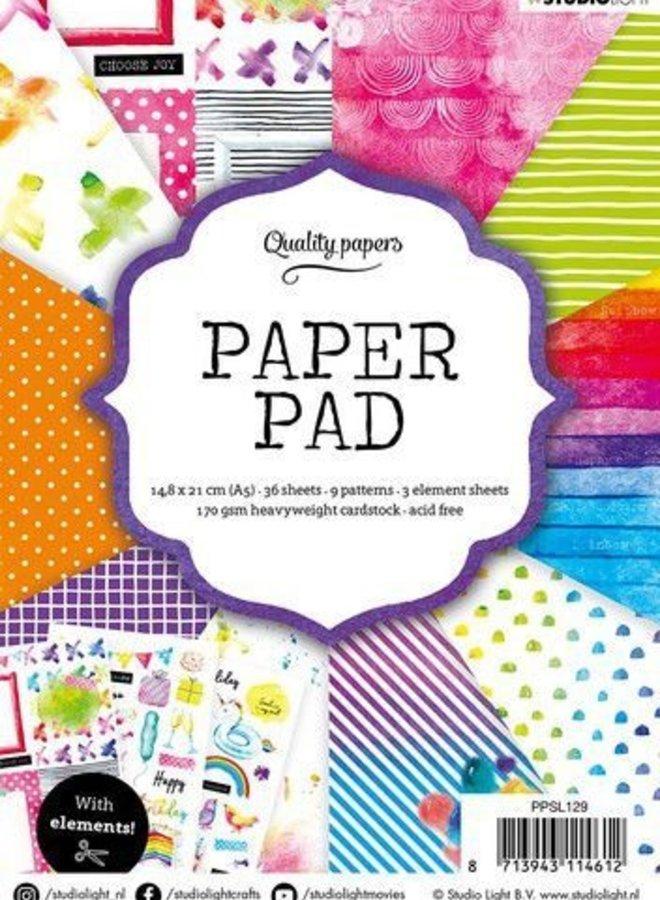 Studio Light - Paper pad Rainbow