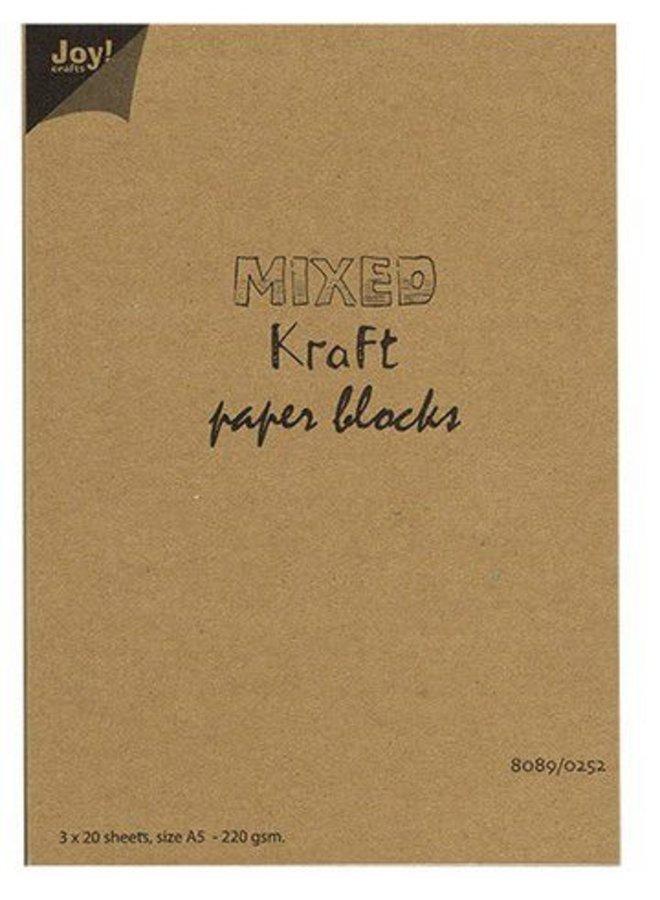 Joy crafts I Mixed kraft paper block