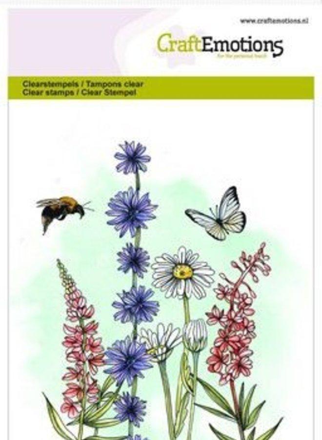 Craftemotions I Bloemen vlinder