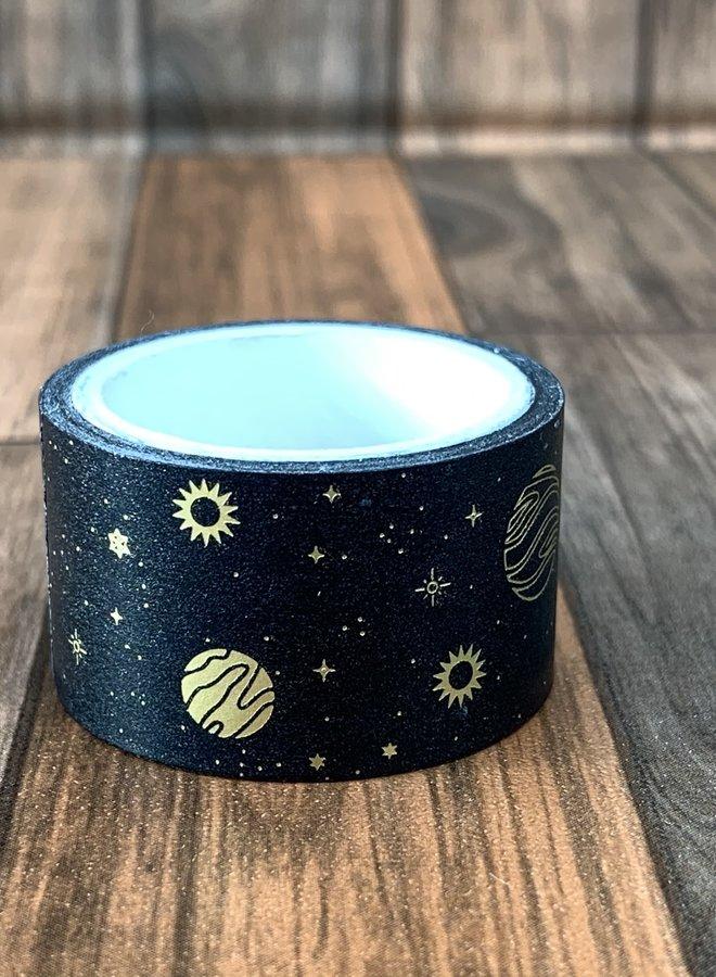 Washi tape I black gold galaxy - Breed