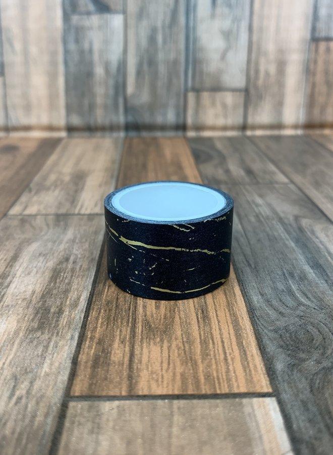 Washi tape I Zwart goud marmer - Breed