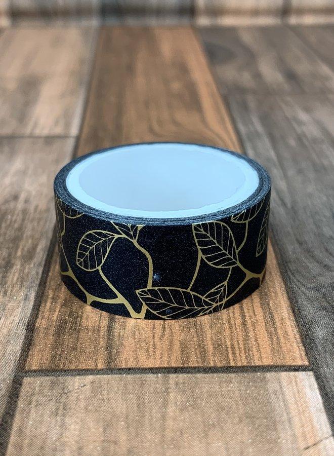 Washi tape I Goud zwarte goot blad