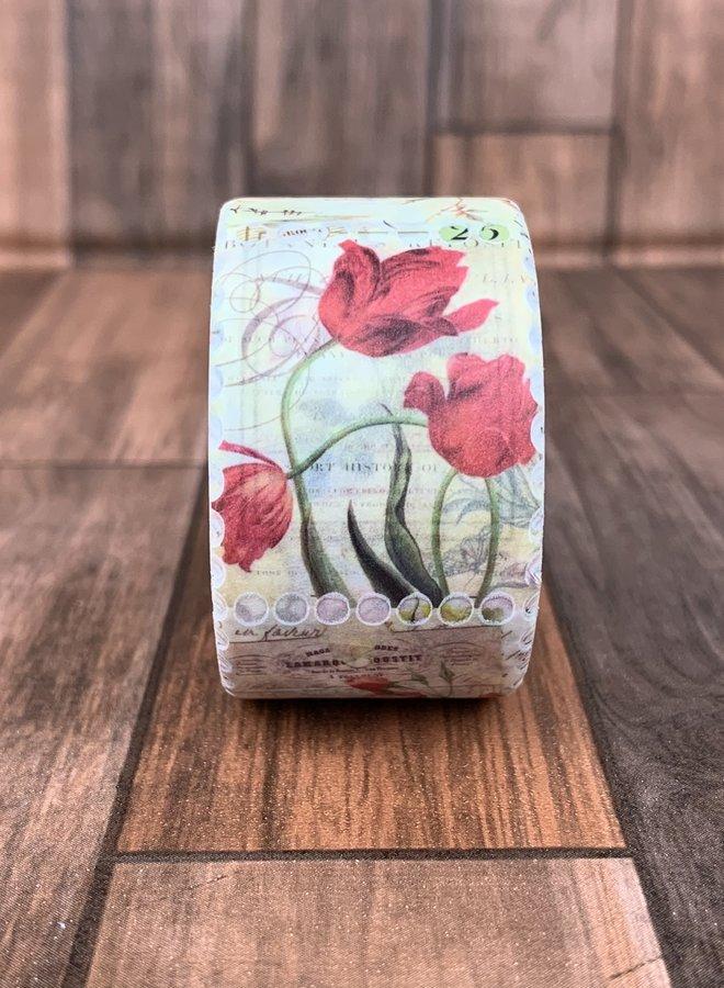 Washi tape | Postzegel Bloemen