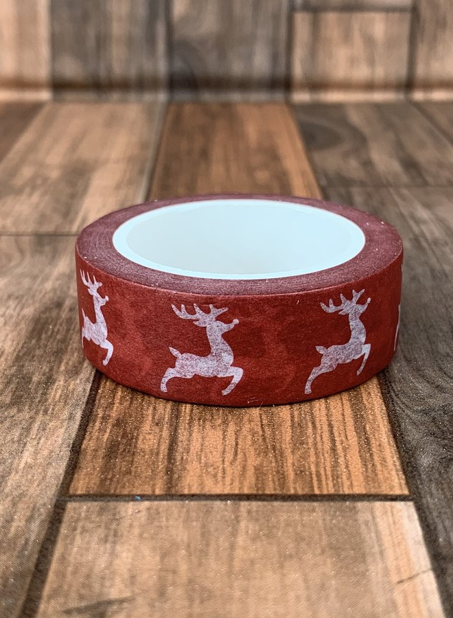 Washi tape   Rendier rood