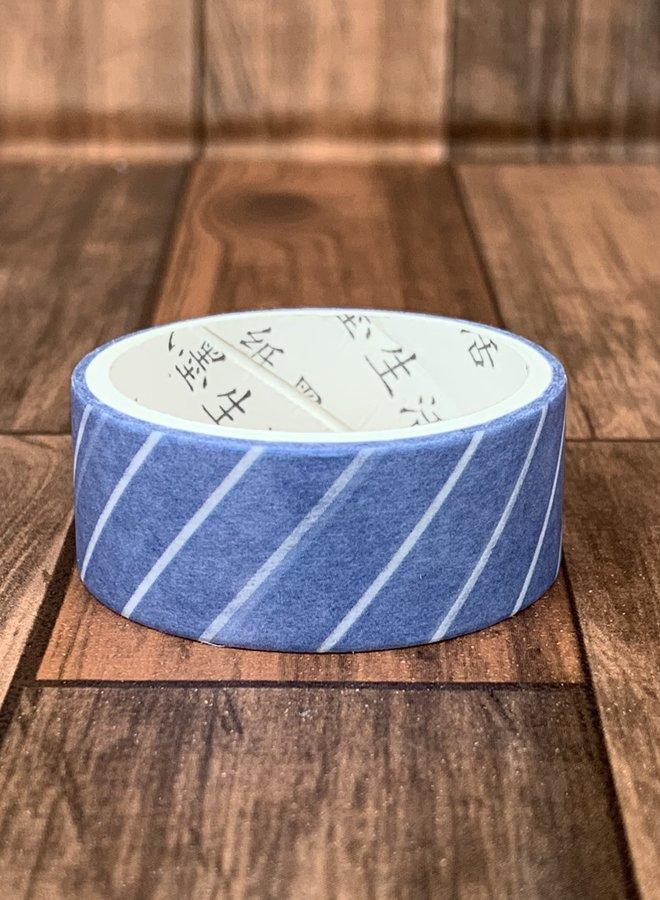 Washi tape l Blauwe strepen verticaal
