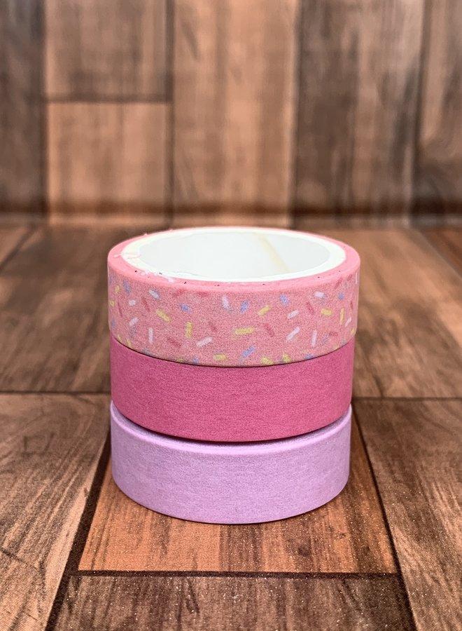 Washi tape | Roze feestje