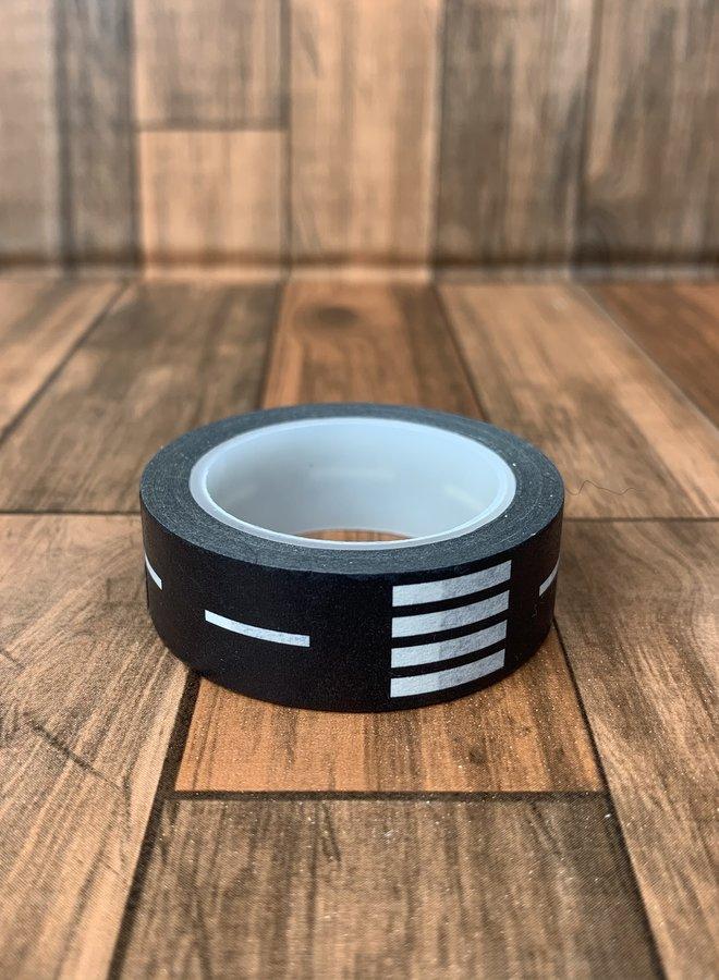 Washi tape | Zwarte straat