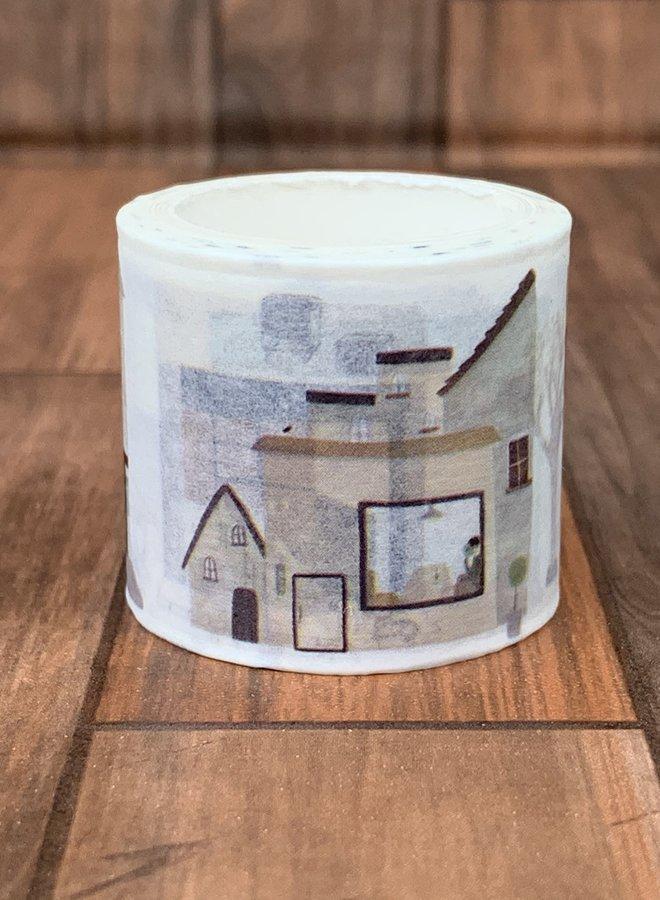 Washi tape | Huisjes - Breed
