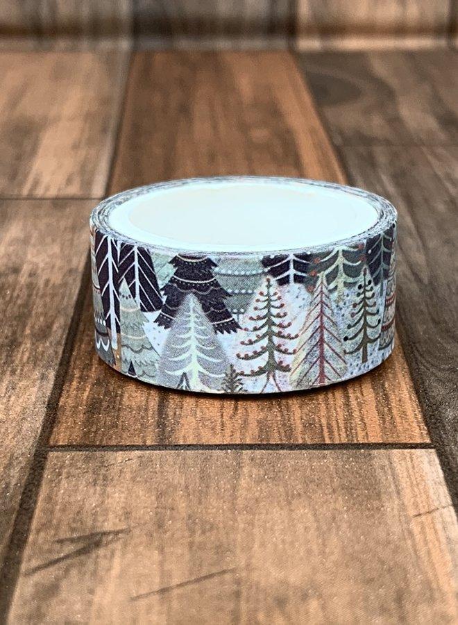 Washi tape | Dennenboom bos