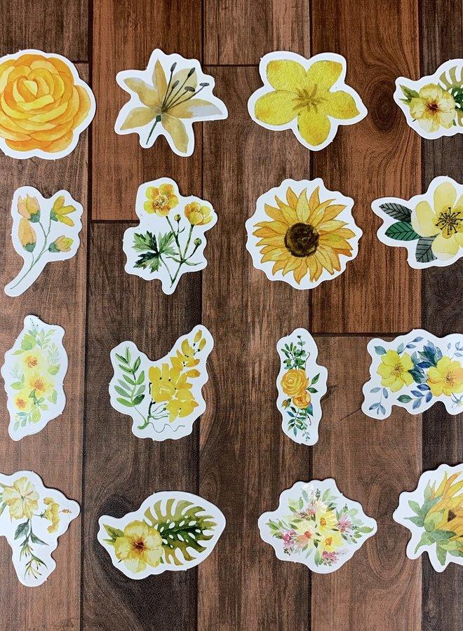 Stickers | Gele bloemen