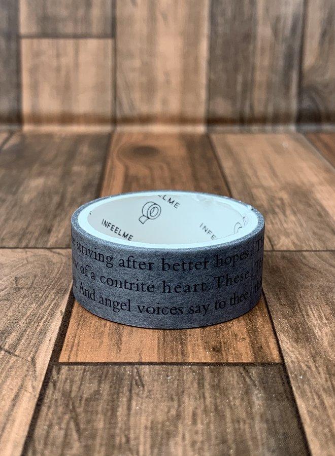 Washi tape | Grijs tekst