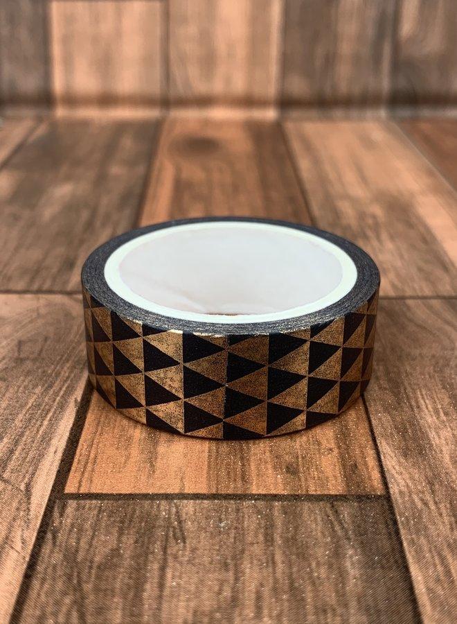 Washi tape | Goud zwarte driehoeken