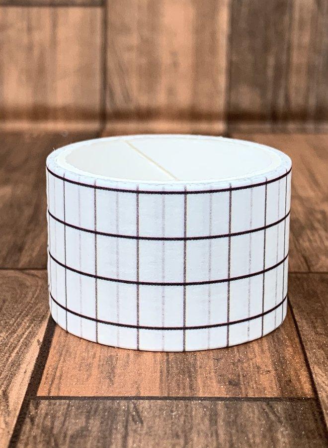 Washi tape | Witte ruitjes - Breed