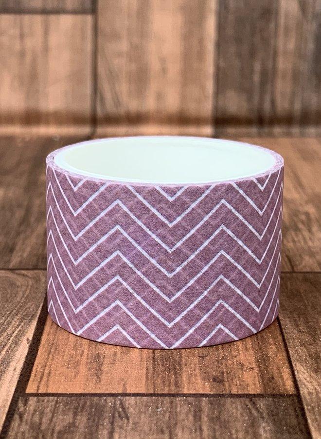 Washi tape | Paarse hoeken - Breed
