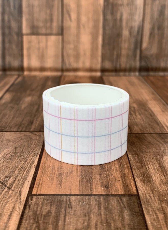 Washi tape   Gekleurde ruiten horizontaal - Breed