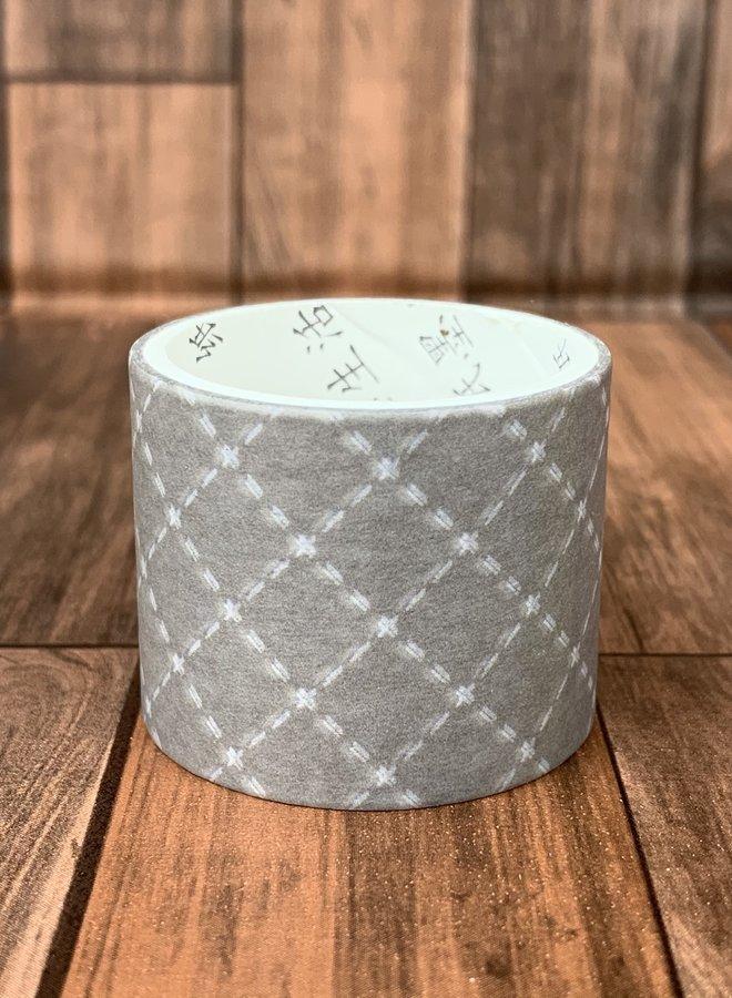 Washi tape | Grijze ruiten - Breed