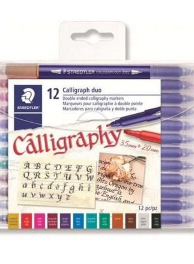 Staedtler | Calligraphy duo kalligrafie pen - set 12 st