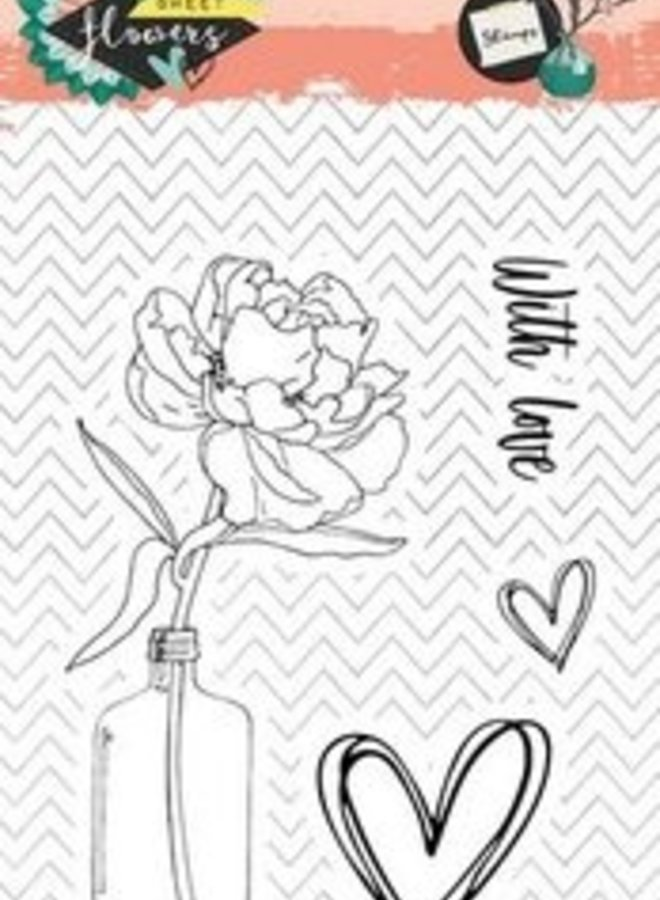 Studio Light | Sweet flower 436 clear stamp