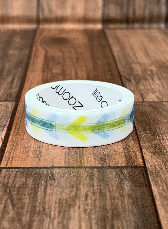 Washi tape l Geel blauwe pijlen