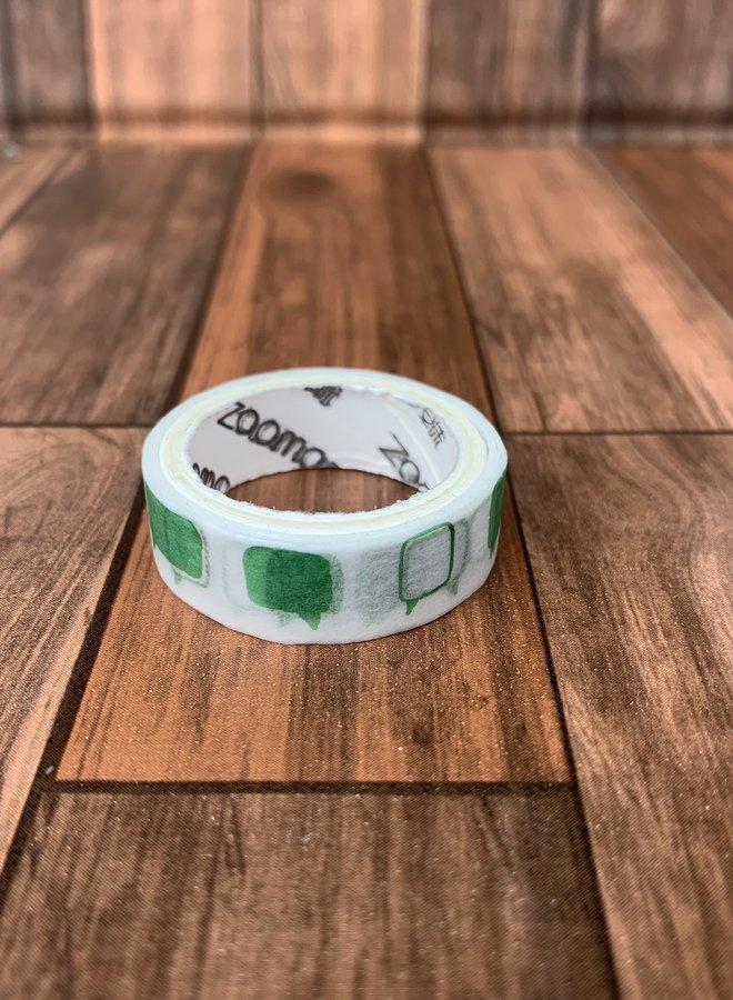 Washi tape | Groene tekstwolken