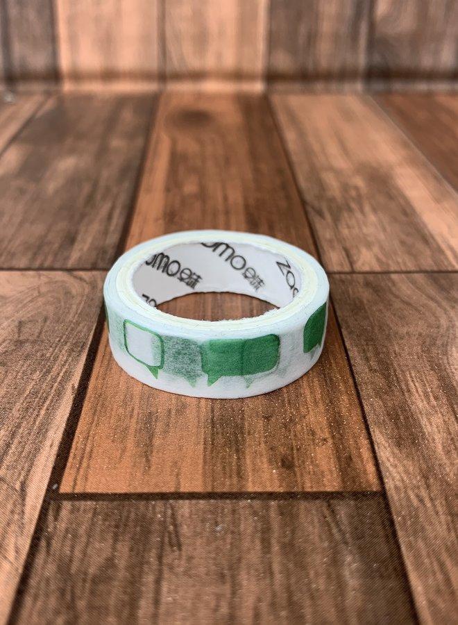 Washi tape I Groene tekstwolken