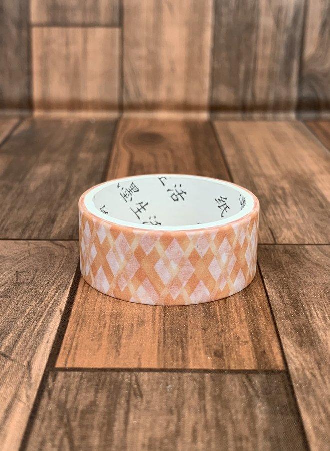 Washi tape l Oranje abstracte kruizen