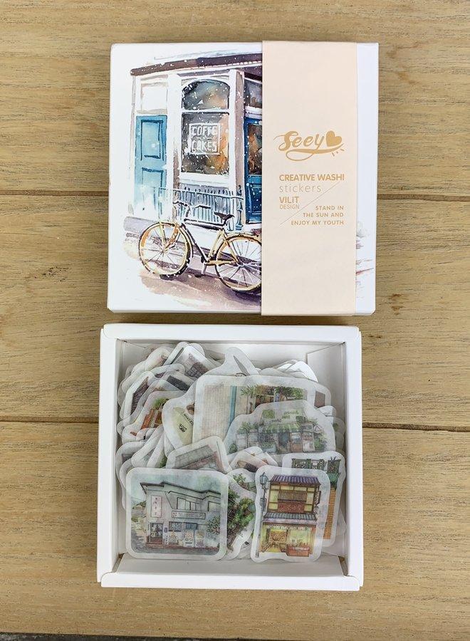 Stickers | 200 tiny houses - set