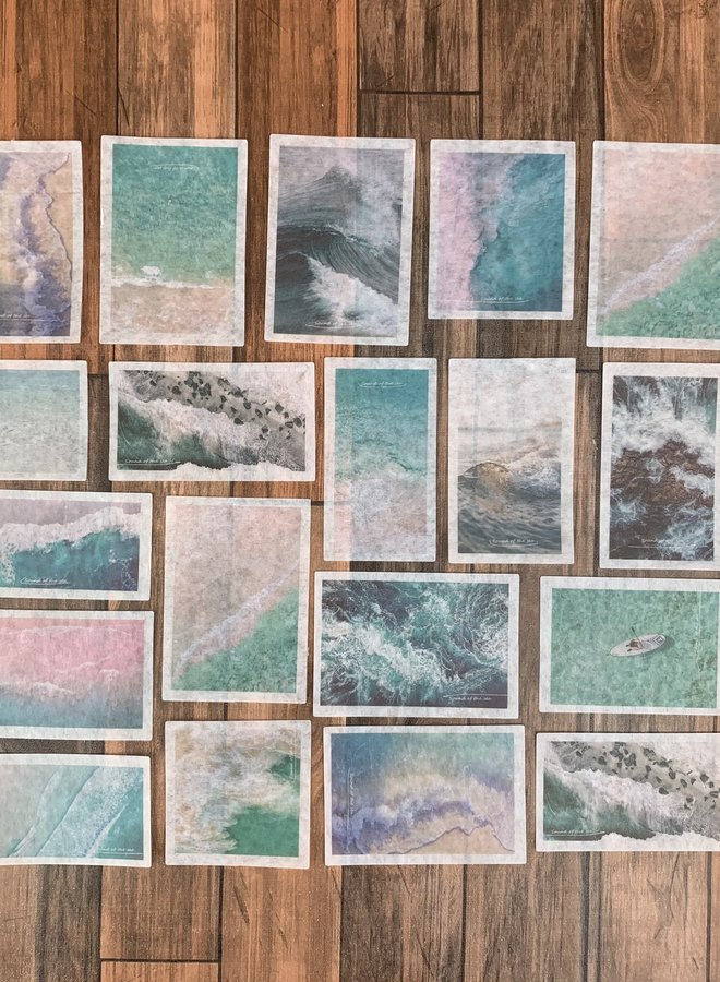 Stickers | Pink blue beach