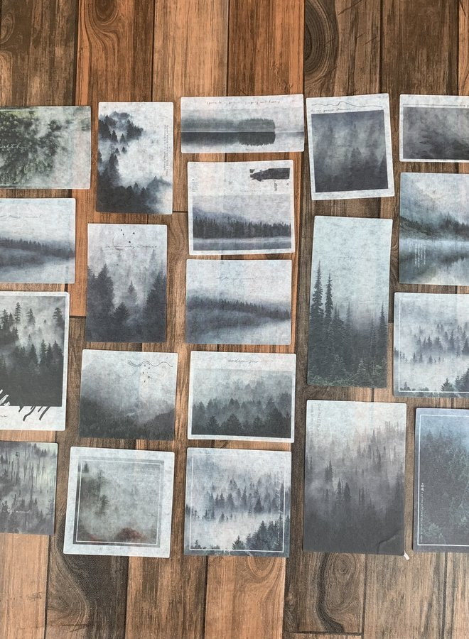 Stickers | Foggy forest