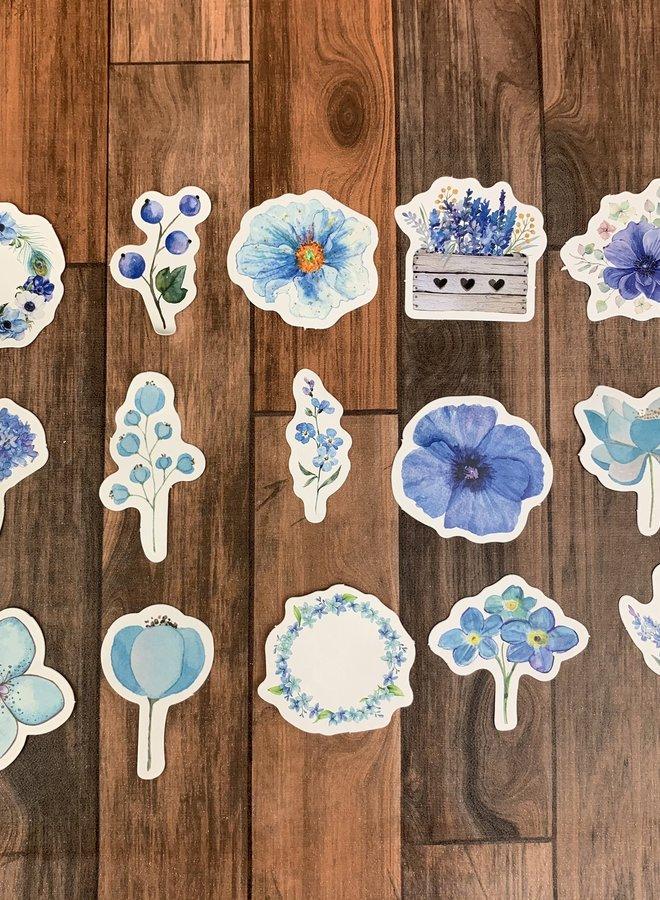Stickers I Blauwe bloemen