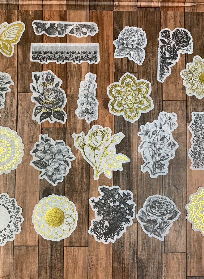 Stickers | Gold and black mandala