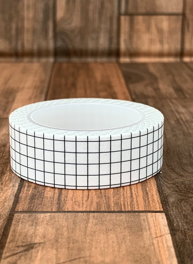 Washi tape   Witte ruiten