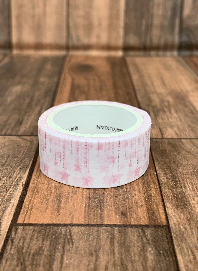 Washi tape I Roze vallende sterren