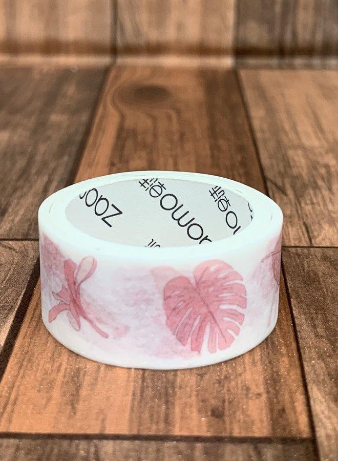 Washi tape | Roze bladeren