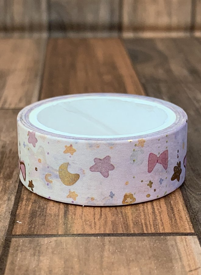 Washi tape   Pink stars