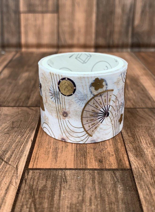 Washi tape | Gouden waaiers
