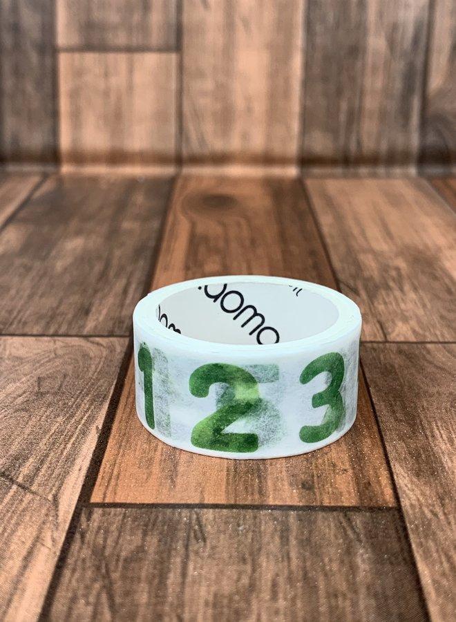 Washi tape l Groene cijfers