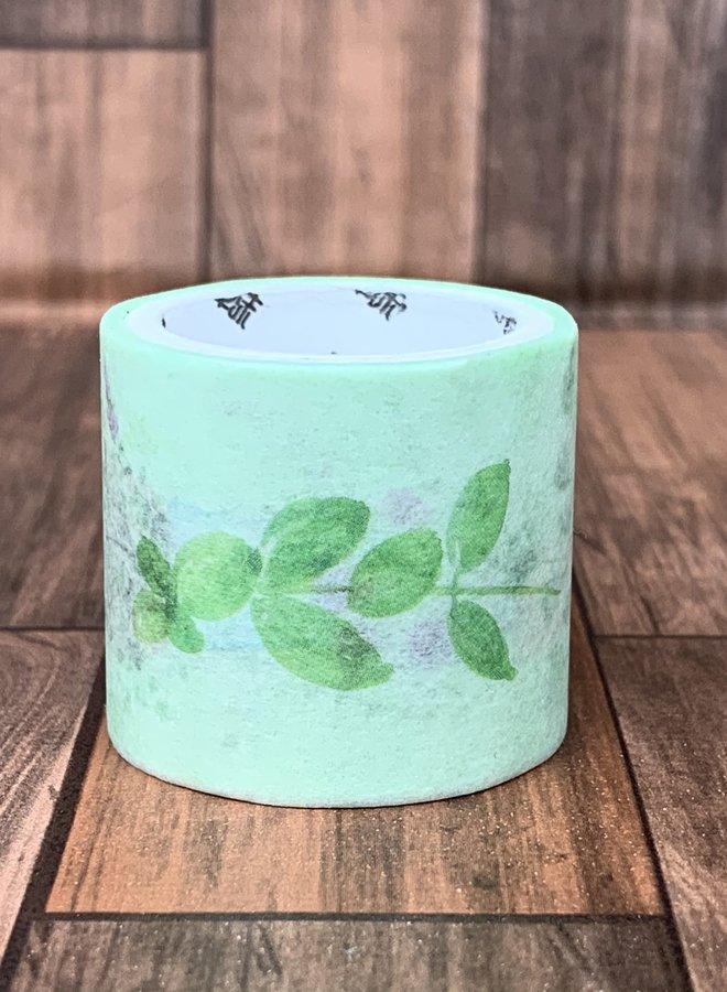 Washi tape l Groene bloemenvaas