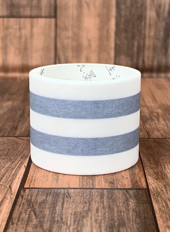 Washi tape   Blauw wit gestreept